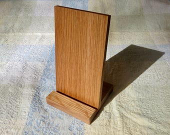 Wooden iPad stand, tablet stand, white oak
