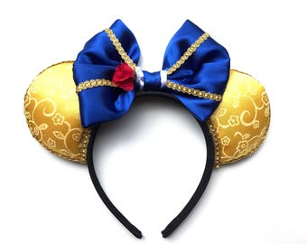 Beauty and the Beast Ears, Belle, Tale as Old as Time, Be our Guest, Mickey Mouse, Minnie Mouse, Disney Ears, Princess Belle