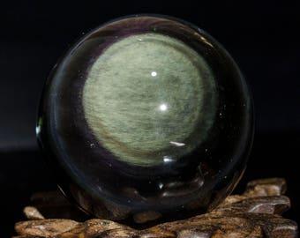 """2.2""""Best Rainbow Obsidian Sphere/Rainbow Obsidian Ball/Rainbow Eye/Obsidian Quartz Ball/Crystal Healing/Energy Stone/Christmas Gift#2729"""