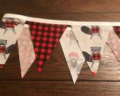 Fabric banner, lumberjack garland, fabric banner garland, fabric garland, lumberjack banner, lumberjack nursery, buffalo plaid baby shower
