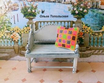 Dollhouse furniture. bench. 1:12.