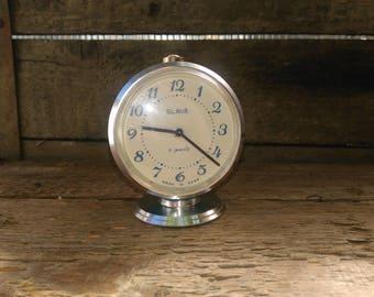 Soviet Vintage alarm clock,Slava 11 Jewels,made in USSR,Soviet alarm clock, Watch Bell,working condition
