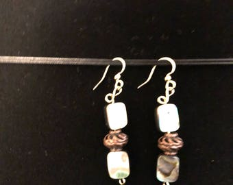 Beautifully colored and beaded earrings