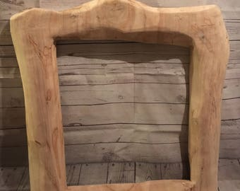 "Rustic Maple Frame Aprox 36"" x 33"" x 2"""