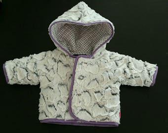 Baby soft fur coat