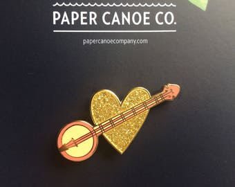 Banjo-heart Pin