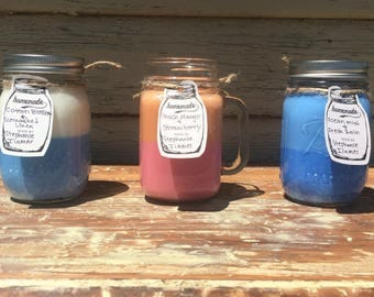 Soy Candle/ Multi-layered Soy Candle/ Mason Jar Candle