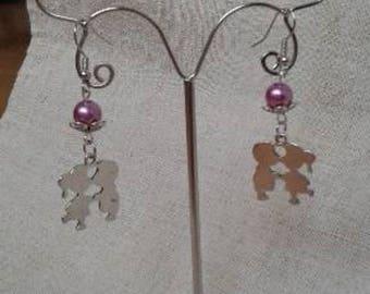 "Earrings ""pair of silver children"""
