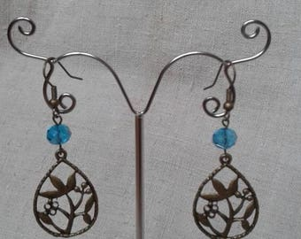 """""""Symphony of bronze and blue"""" earrings"""