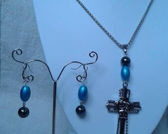 attractive finery Gothic Cross and beads