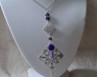"""necklace """"the silver and purple"""""""