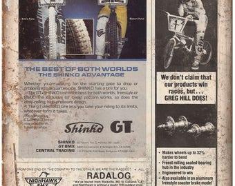 "10""x7"" Metal Sign GT, Greg Hill, Shinko, BMX Ad Vintage Look Reproduction B57"