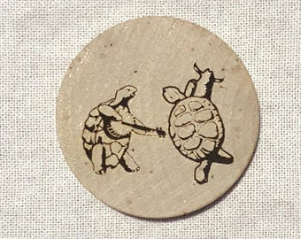 "Grateful Dead, Terrapin Station, Dancing Turtles, 2"" Wood Magnet"