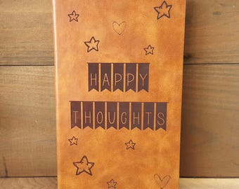 Happy Thoughts large journal, Peter Pan Journal, Peter Pan Happy Thoughts Journal