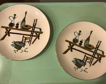 Rhythm by Homer Laughlin Plates, set of 2