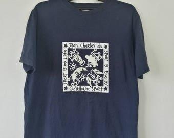 Jean Charles De CASTELBAJAC Sport T-shirt Medium Size Blue Color
