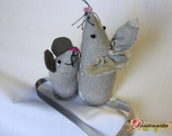 Handmade mouse gray fabric