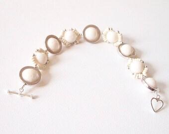 White Coral Bracelet Natural Coral Bracelet Coral Jewelry Mineral Bracelet Howlite Bracelet For Gift Bracelet For Gift Mineral Jewelry
