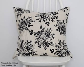 Scandinavian Style Print Natural Linen Fabric Cushion Cover