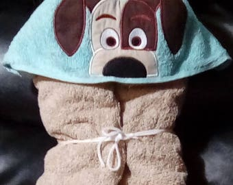 Puppy Hooded Towel - Personalized Towel -Hooded Towel - Child's Hooded Towel