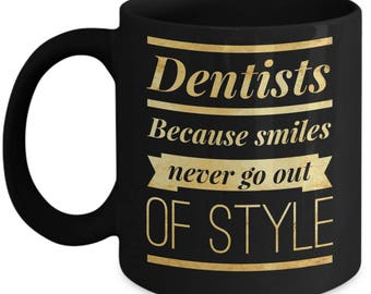 Dentist Coffee Mugs - Best Dentist Mug - Funny Dentist Gifts Women or Men - Dentist Graduation - Dentist Birthday - Novelty Dental Cup -
