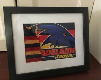 Adelaide Football Club Jumper with Flair - Knitted Artwork