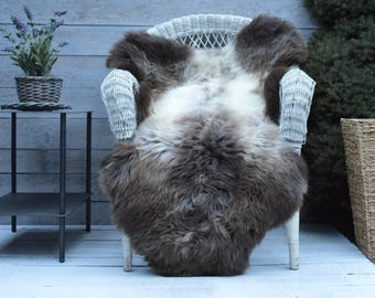 Unique No.723 Luxury Sheepskin Rug, Throw, Blanket, Very Rare Breed Multi - Size XL