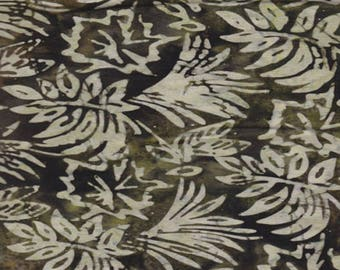 fabric patchwork khaki batik Leaves MODA Fabrics