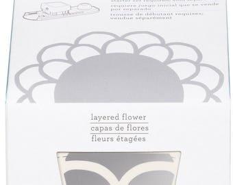 Martha Stewart Crafts Punch Circle Edge Punch Cartridge- Layered Flower