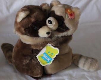 "Vtg 1979 Dakin Nature Babies Razzle Dazzle Raccoons Stuffed Hugging Animals 9"""