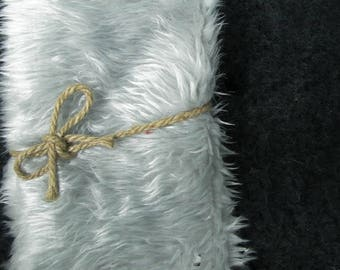 18x20  Silver Short Length Mongolian Faux Fur Nest Newborn Photography Prop Large Stuffer short Pile Faux Stuffer layering blanket