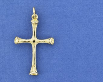 Cross Pendant, 14K Gold Cross, Solid Gold Cross Pendant, Christian Jewelry, Cross From the Holy Land