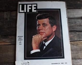 Life Magazine November 29 1963 JFK, Life Magazine 1963, JFK birthday1963 Life Magazine, JFK 1963