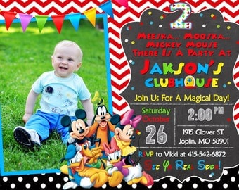 Mickey Mouse Clubhouse Invitation Birthday - Mickey Mouse Clubhouse Party Mickey And Friends Invitation