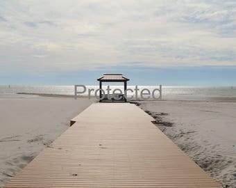 Pier on Beach in Mississippi