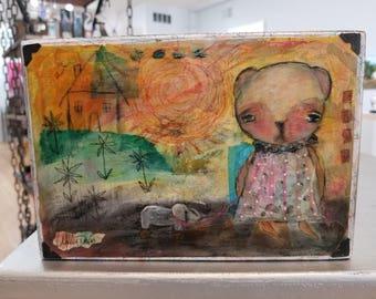 """Original Artwork- """"Bear and Elephant"""""""
