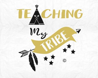 teaching my tribe SVG Clipart Cut Files Silhouette Cameo Svg for Cricut and Vinyl File cutting Digital cuts file DXF Png Pdf Eps