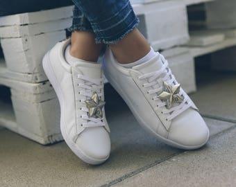 Neu: Stern-SneakerBug in Silber, ein richtiger silver star - die Brosche für deine Schuhe