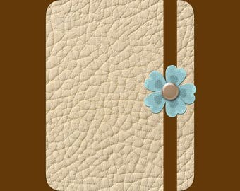 Tan Leather Bullet Journal