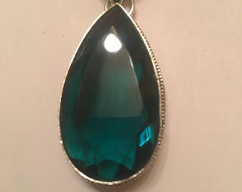 110ct Beautiful Indicolite Tourmaline Pendent
