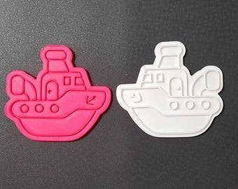 Fishing Boat Cookie Cutter and Stamp