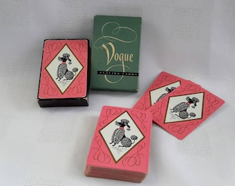 Vogue 1950's Playing Cards, Black and White Poodle