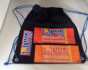 Tony's Jeans backpack Chocolonely upcycling