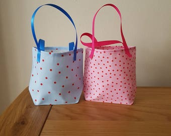 Spotty Fabric Gift Bags
