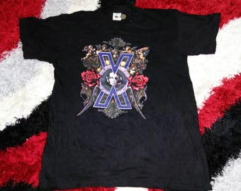 RARE!!! Vintage 90's Psychedelic Violence X Crime Of Visual Shock Violence In Jealousy Tour 1991 Staff Japanese Band Shirt