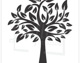Family Tree Stencil, Family Tree Template, Tree Stencil, Tree Branch Stencil, Large Tree Stencil, Tree Template, Sign Stencil