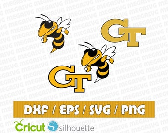 Georgia Tech Yellow Jackets Svg Dxf Eps Png Cut File Pack