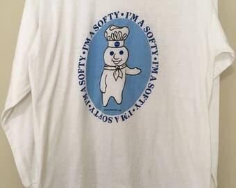Vintage Pillsbury doughboy long sleeve T-Shirt!! Size medium
