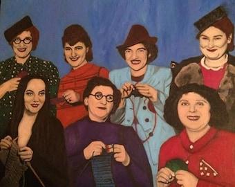 Knitting Circle-Gicle'e Print