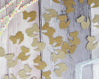 Embossed fox confetti, Kraft birthday party decorations, Woodland party theme, Animal confetti, Cute table sprinkles, Birthday party